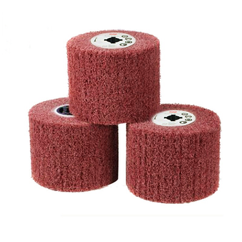 1Pcs 120mmX100mm Drum Non-Woven Fiber Abrasive Scouring Polishing Wheel Cylinder Buffing Drawing for Wire Drawing Machine