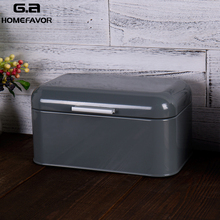 Bread Bins Storage Boxes With Metal Galvanized Lid Snack Box Kitchen Food Containers Home Accessories