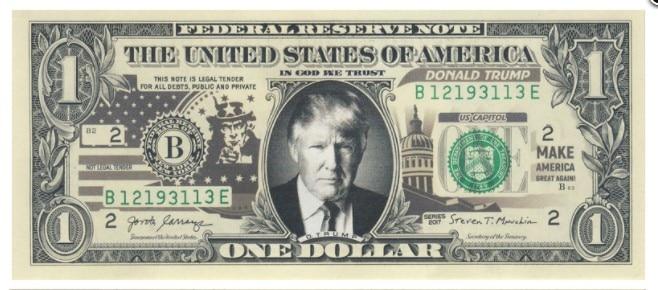 1 доллар США Трамп 1 dollar USA Trump