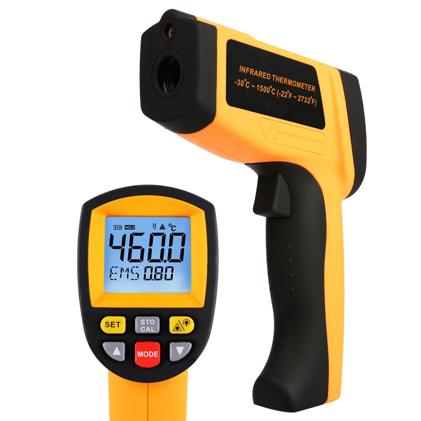 Цифровой портативный лазерный ИК тепловой термометр инфракрасный бесконтактный температурный пирометр Регулируемая излучательная спосо