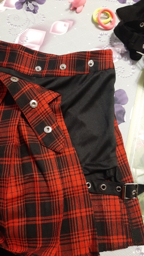 Harajuku T-girl Open Pleated Mini Skirt with shorts photo review