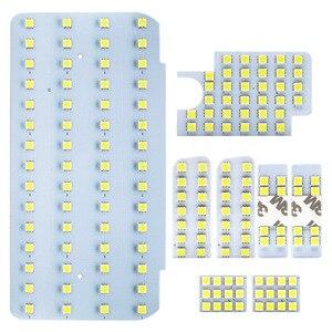 Safego SMD Luz Interior Do Carro LEVOU Conjunto de 8 Pcs Carro Porta Luzes Da Placa de Licença para Toyota Hiace 200 Series /Regius Ace 200 series