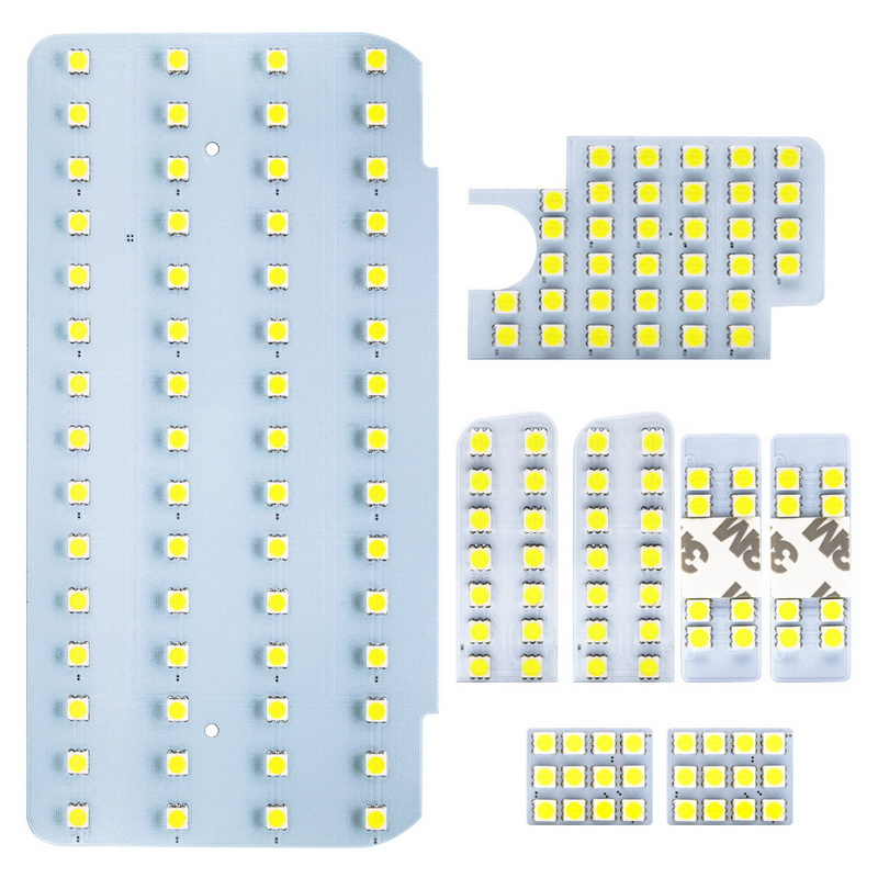 Safego <font><b>SMD</b></font> Car LED Interior Light Set of 8 Pcs Car License Plate Door Lights for Toyota Hiace 200 Series/Regius Ace 200 series image