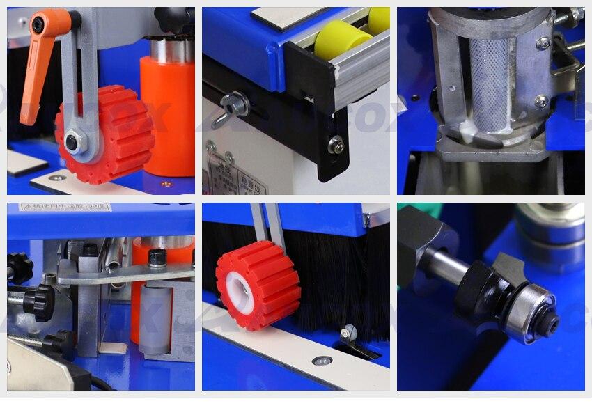 MY06B мульти 42 кг машинка для облицовывания кромки машина с склеивания, обрезки и концевой резки с функцией вращения для прямой, кривой