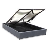 Canape abatible hidráulico con somier  135x190  cor gris ref 04|Camas| |  -