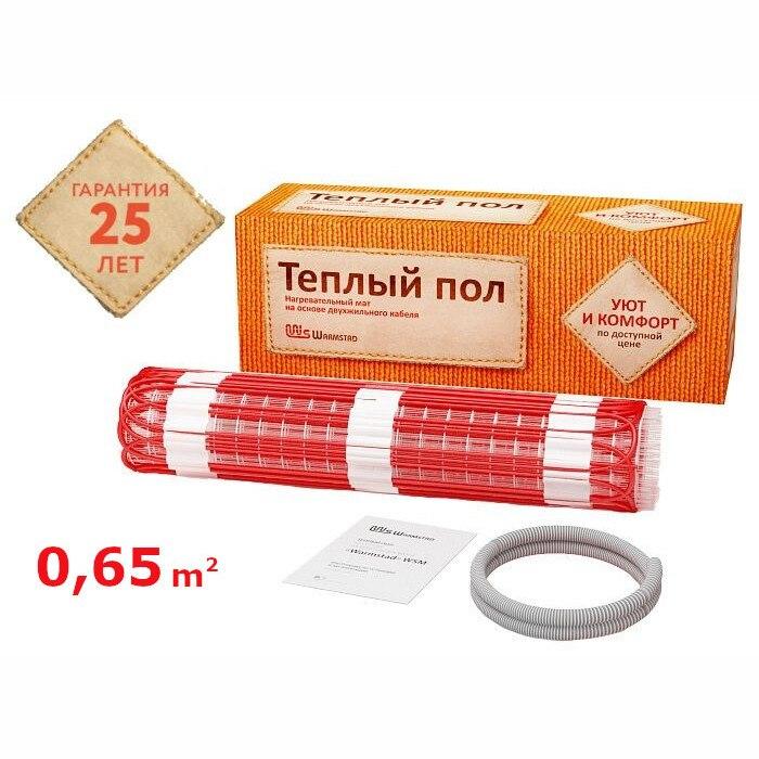 Нагревательный мат для теплого пола Warmstad WSM 100 Вт/0,65 кв.м