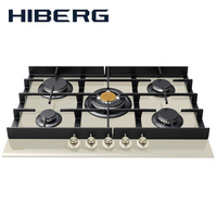 Built in Hob gas on glass HIBERG VM 7055 RY Home Appliances Major Appliances gas cooking Surface hob cookers cooking surface