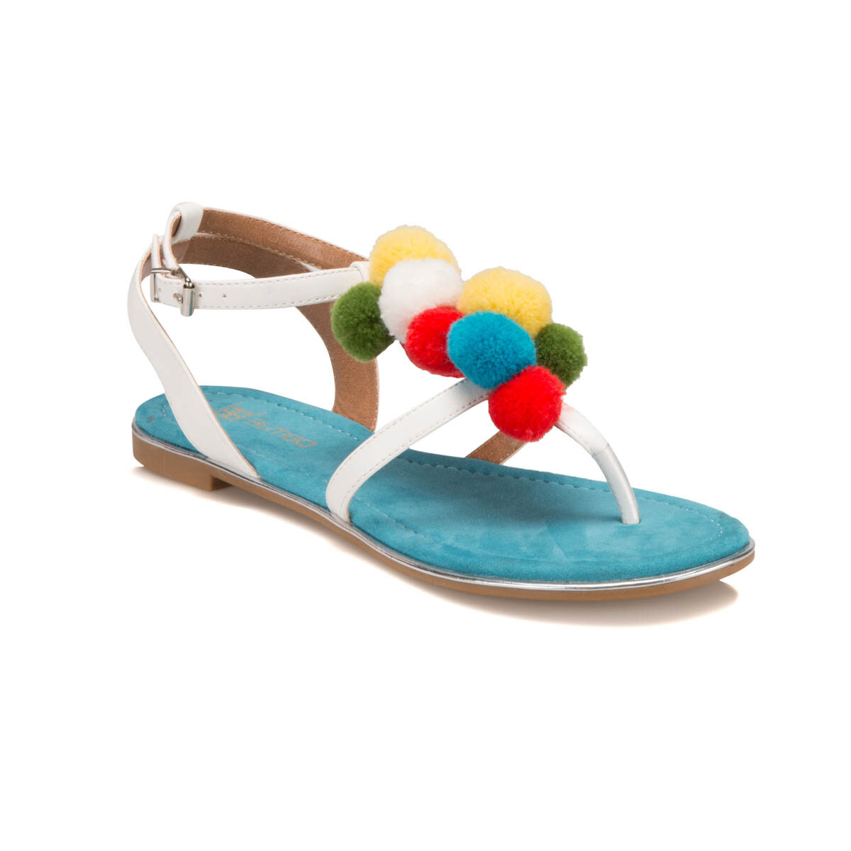 FLO S1096 White Women Sandals BUTIGO
