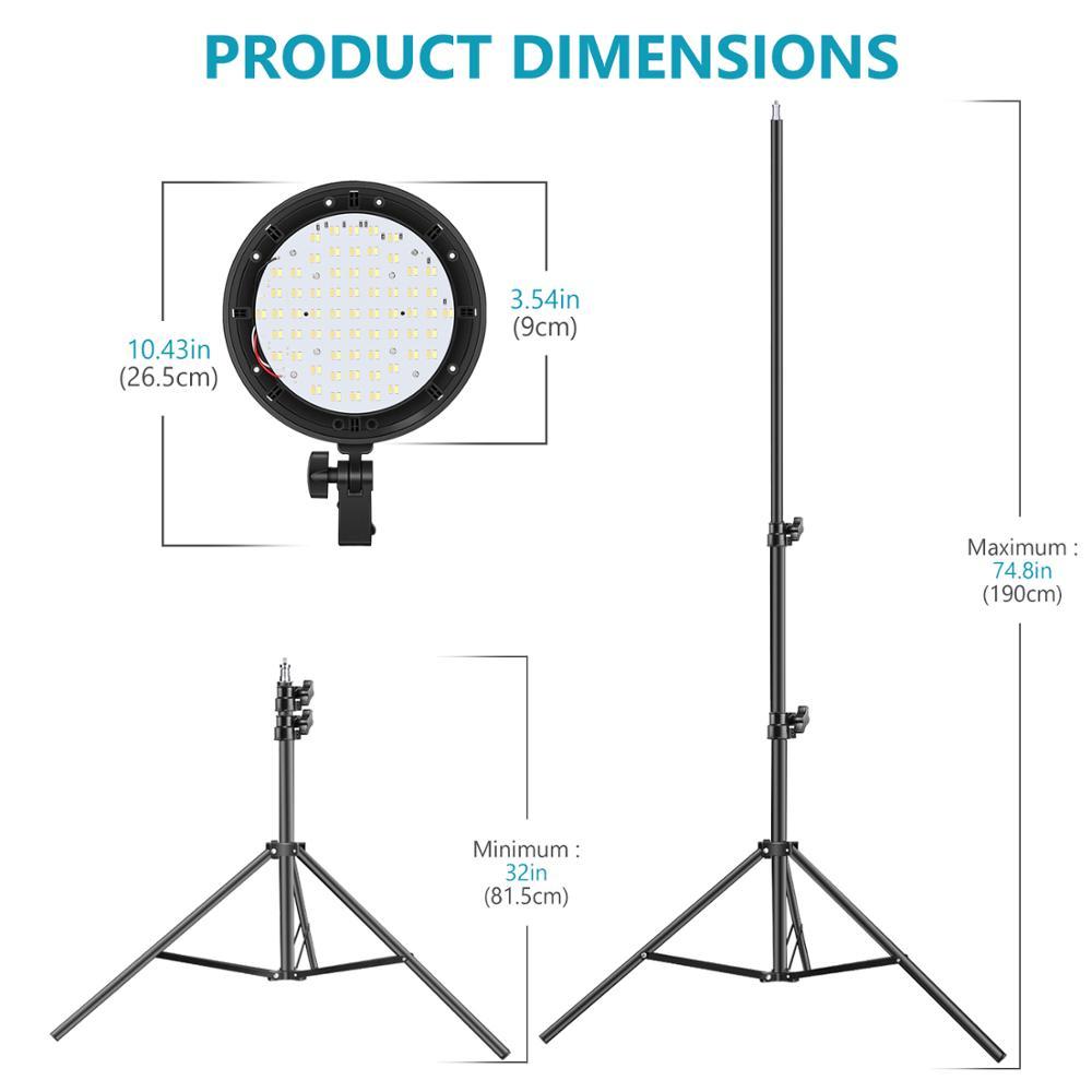 Купить neewer фото светодиодный светильник ing kit: head софтбокс подставка