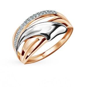 Золотое кольцо с фианитами SUNLIGHT проба 585 проба
