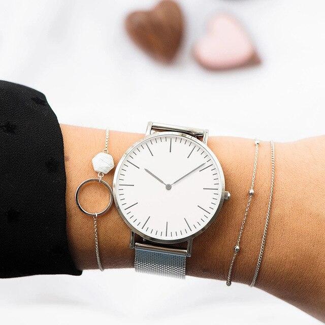 Luxury Rose Gold Watch Women Bracelet Watches Top Brand Ladies Casual Quartz Watch Steel Women's Wristwatch Montre Femme Relogio 3