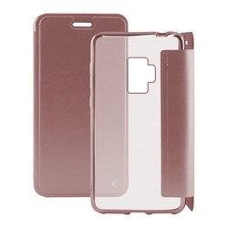 Folio etui na telefon komórkowy Galaxy S9 KSIX metalowe różowe złoto