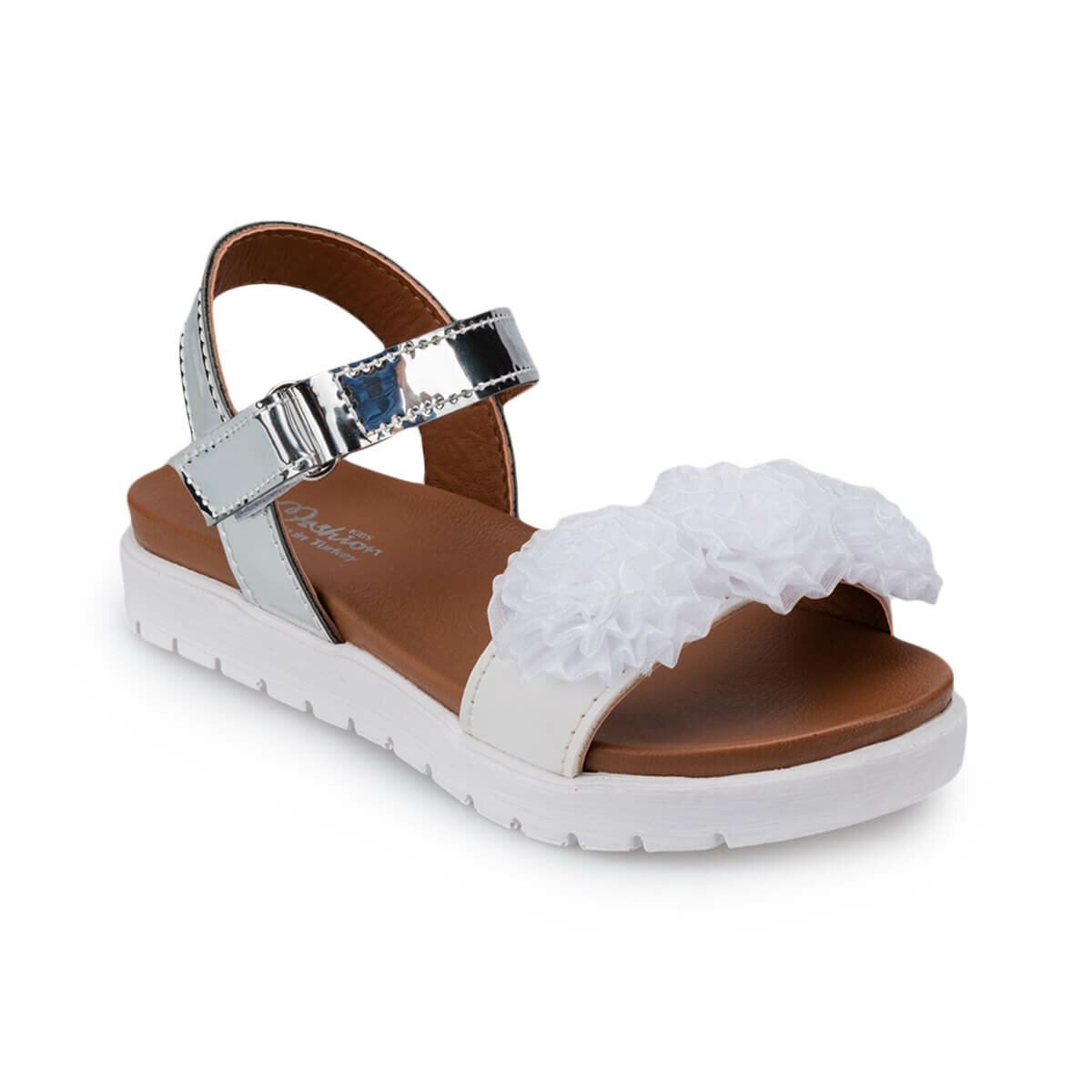 FLO 91.511186.P White Female Child Sandals Polaris