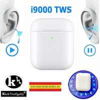Auricular Bluetooth inalámbrico i9000 V5.0 auriculares sin cable carga QI Versión KLACK de HK con escrito Aire PRO + EDR