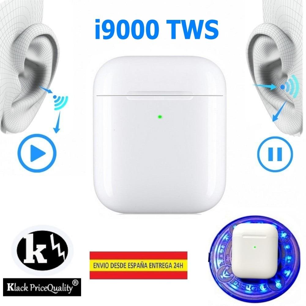 Sans fil Bluetooth Casque i9000 V5.0 Casque sans câble QI Charge Version KLACK de HK Avec Écriture Aire PRO + EDR