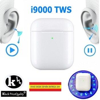 V5.0 i9000 Fones De Ouvido sem fio Bluetooth fone de Ouvido sem cabo de Carga QI KLACK da Versão de HONG KONG Com Escrever Aire PRO + EDR