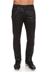 CR7 Jeans for Men Color Black Casual Jeans Men Casual Slim Thin Straight Curly with Pockets CRD017A