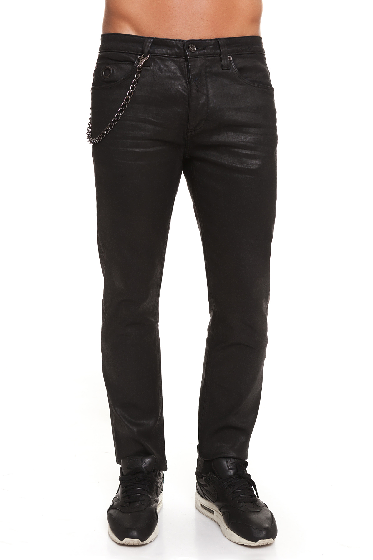 CR7 Jeans For Men Color Black Casual Jeans Casual Slim Thin Straight Curly With Pockets CRD017A