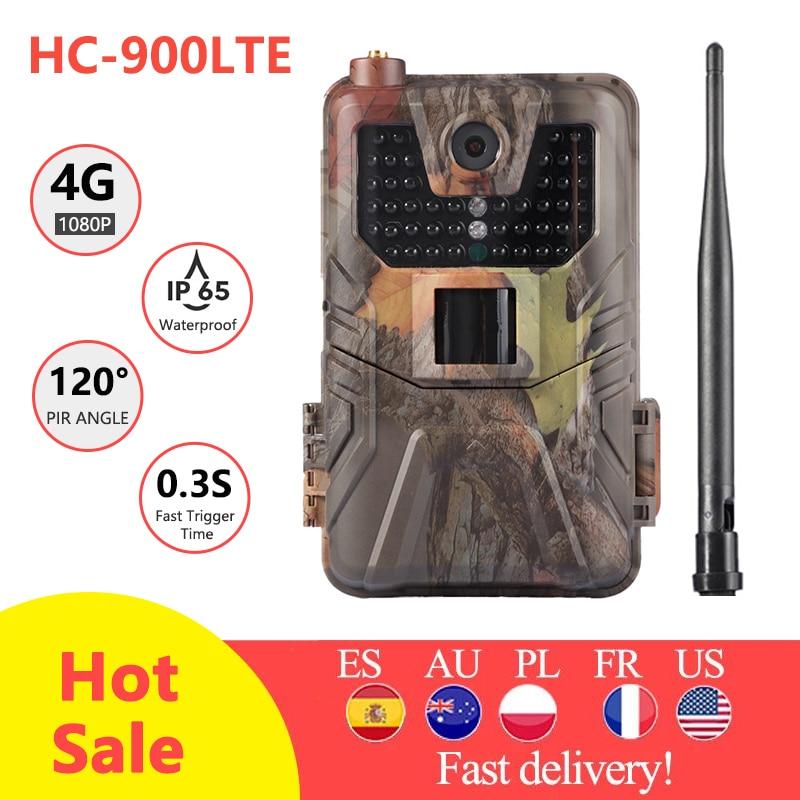 HC-900LTE 4G Охота Камера 20MP 1080P MMS/SMS/SMTP/FTP Trail Камера IP65 0,3 s фото ловушки 940nm инфракрасный светодиодный Скаут дикая Камера
