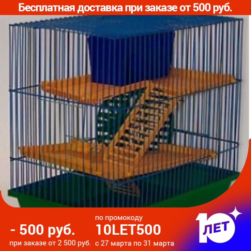 Cage Zoo Three-story No. 135 For Rodents, 36*24*38 Cm.
