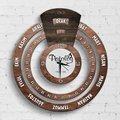 Персонализированные профессиональные патологоанатом бесконечный Майя календарь деревянные настенные часы