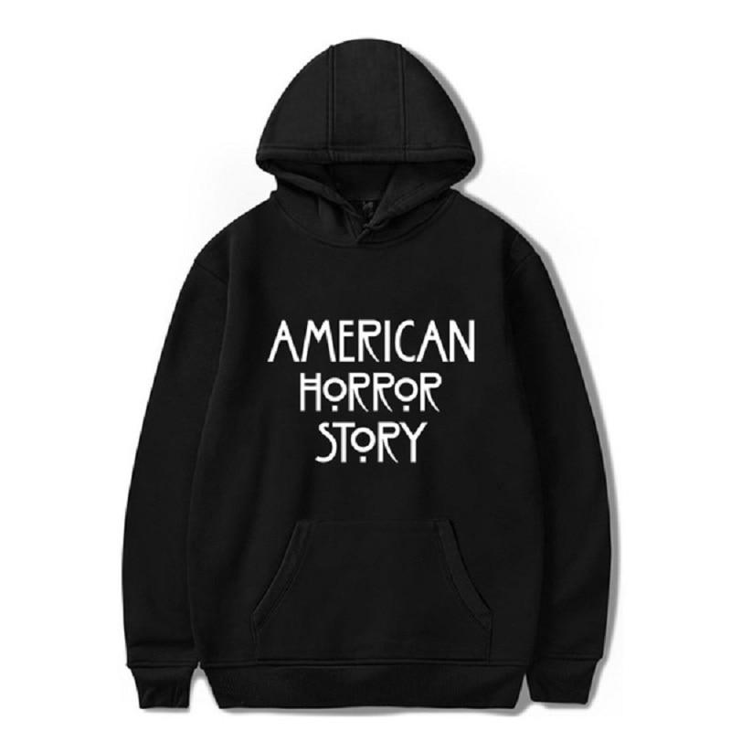 Men Women Casual American Horror Story Printed Hooded Pullover Sweatshirts