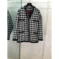 Autumn and winter new houndstooth casual jacket