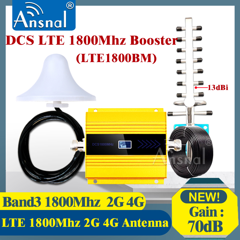 1800Mhz 4G Cellular Amplifier1800Mhz GSM 2g 3g 4g Repeater LTE 4g Internet Amplifier GSM Mobile Signal Repeater Cellular Booster