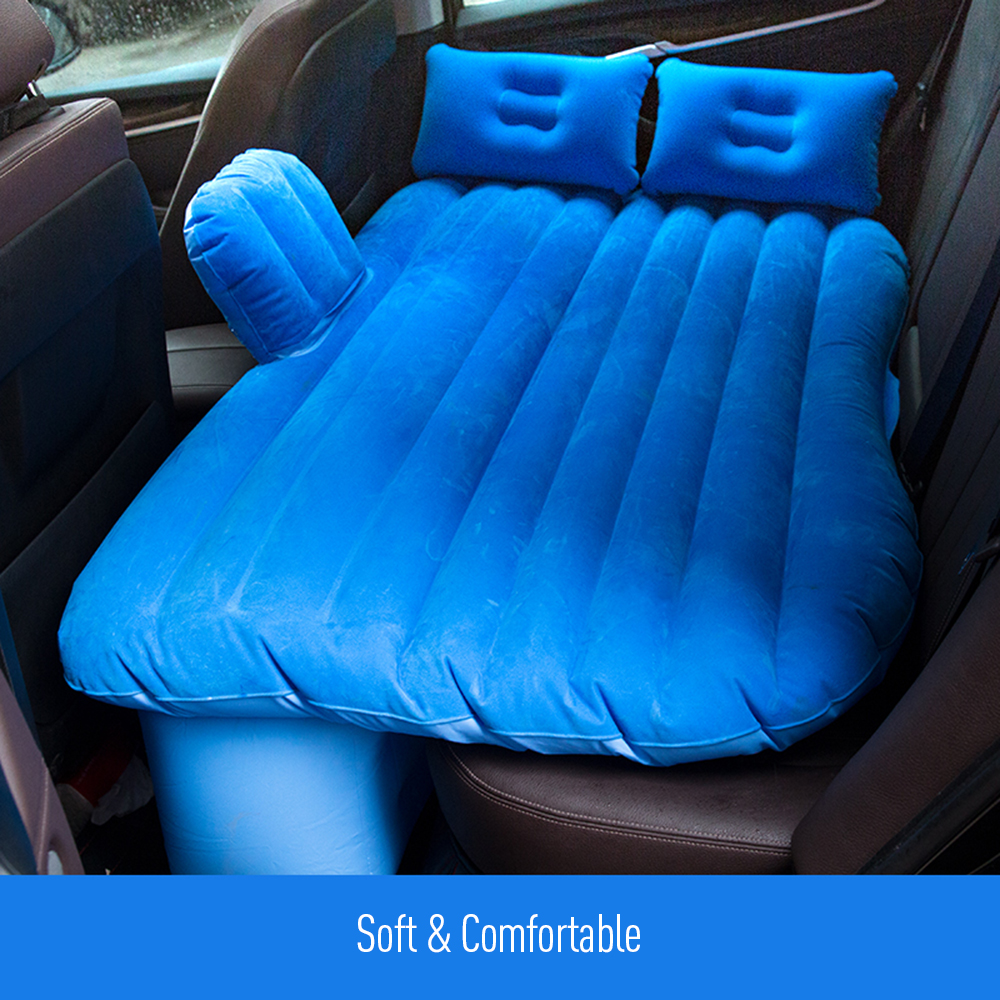 135*85*45cm Car Back Seat Cover Travel Mattress Air Inflatable Bed Car Bed with Two Air Pillows Universal for Ford SUV