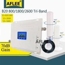 Трехдиапазонный усилитель сотовой связи b20 800 1800 2600 4g