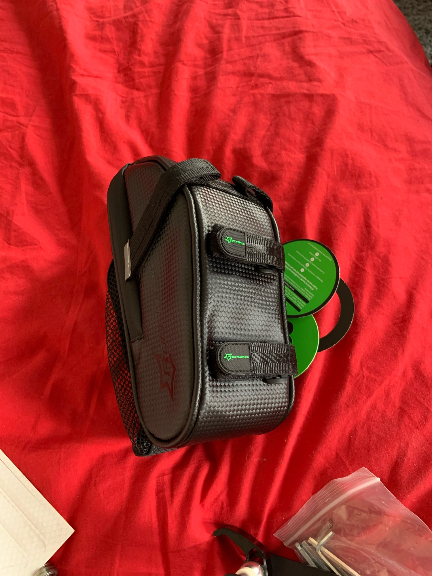 Black Nylon Bicycle Saddle Bag photo review