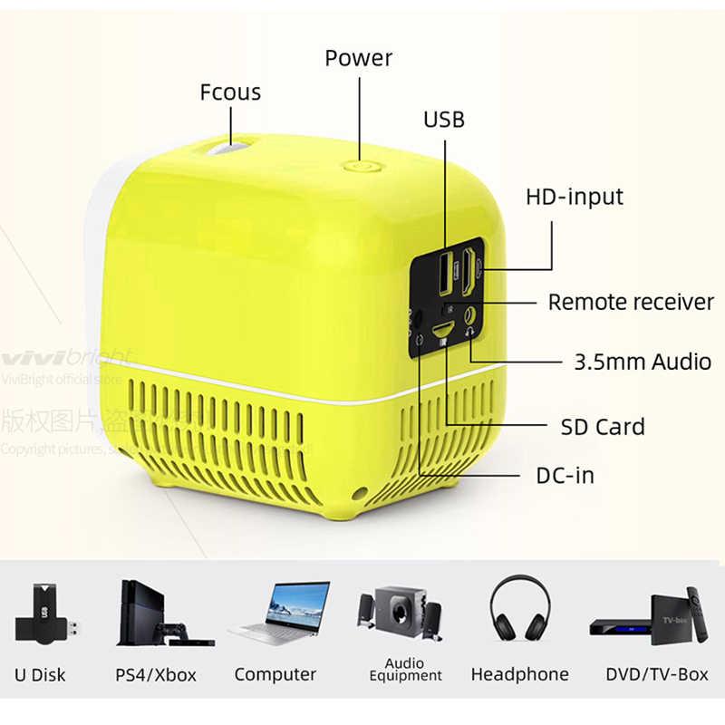[Dostawa lokalna w rosji] Mini projektor L1, przenośny projektor wideo dla 1080P HDMI odtwarzacz multimedialny USB. Prezenty dla rodziców i dzieci.