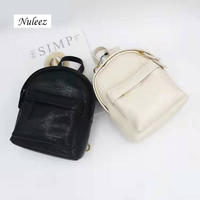 Nuleez genuine cowhide leather crocodile backpack multi use bag women cute fashion bag popular and match able black white