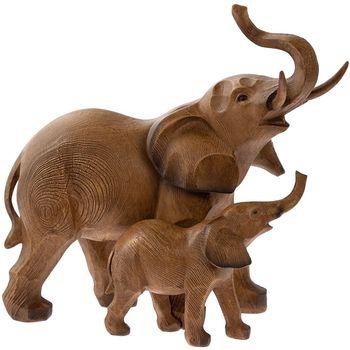 Figurine of a elephant with an elephant 25x24 cm