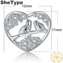 1.2x1.1cm Songbird 1.8g Charm Silver 925 Sterling Silver Gift For Mother Charms Jewelry DIY 2019