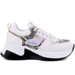 Pierre Cardin/женская повседневная обувь белого цвета
