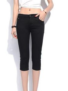 ZOUDKY 2020 Summer Women Casual Skinny Capris Jeans Trousers Female Stretch KM1423