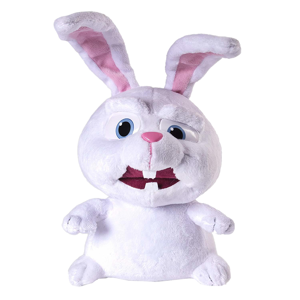 Soft toy The Secret Life of Pets Rabbit <font><b>Snowball</b></font> talking image