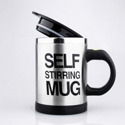 Mug 304 Double Stainless Steel Automatic Coffee Stirring Cup Shake Cup Creative Automatic Coffee Stirring Cup B20020