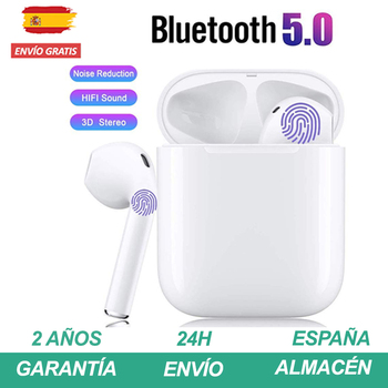 Earphones bluetooth 5.0 White similar to air pods for Smartphone iPhone Xiaomi Huawei Samsung 1
