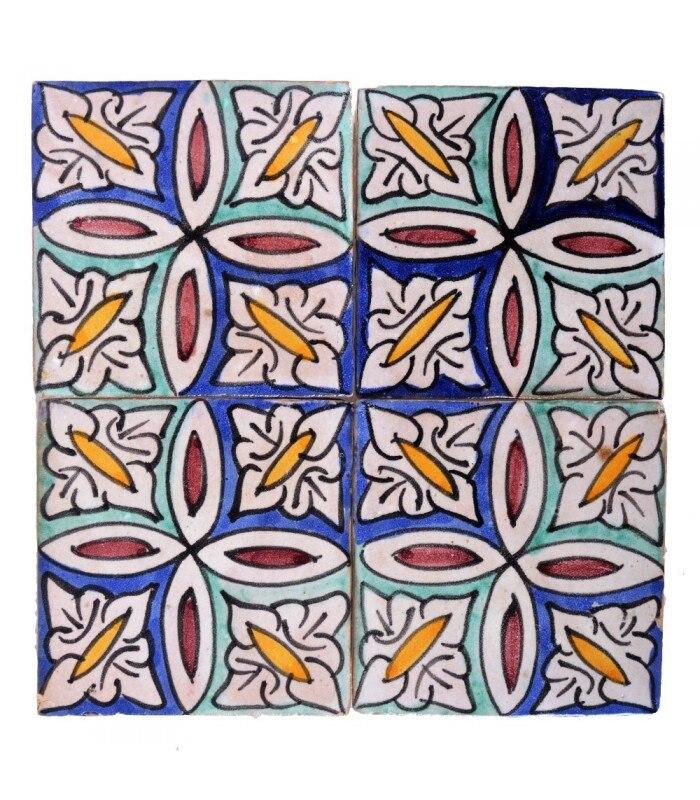 Azulejo Andalusí - 10 cm - Handmade - Model 33