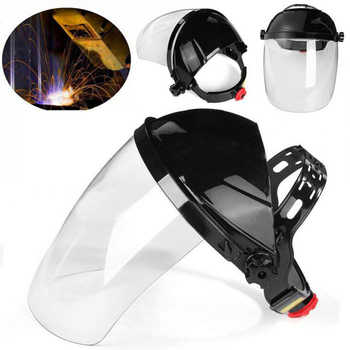 Transparent Welding Tool Welders Headset Protection Masks PVC Welding Helmets Anti-splash Droplets Safety Protective Equipment - DISCOUNT ITEM  40 OFF Tools