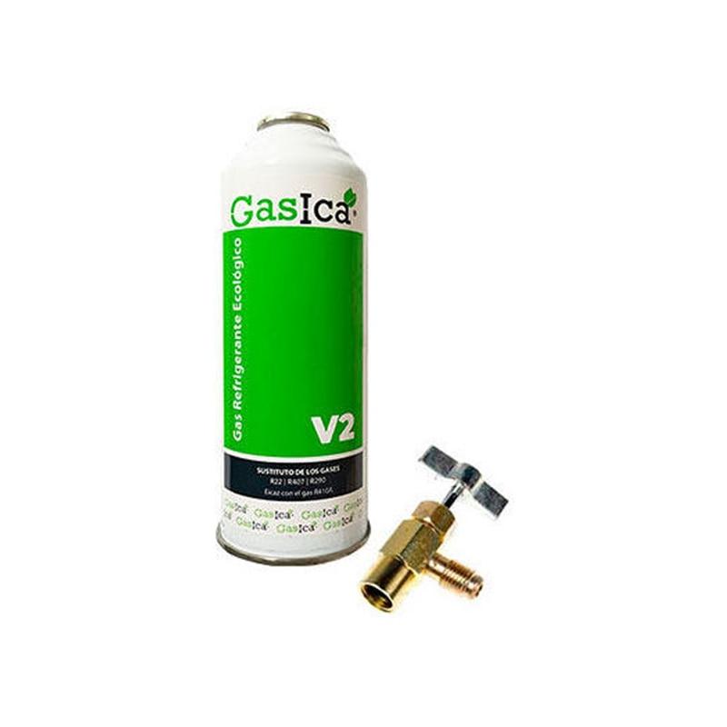 Kit GASICA V2 + Wrench Gas Refrigerant Organic Surrogate R22 R407 R290 R4 Air Conditionings Surrogate Gases Cloro-fluorados