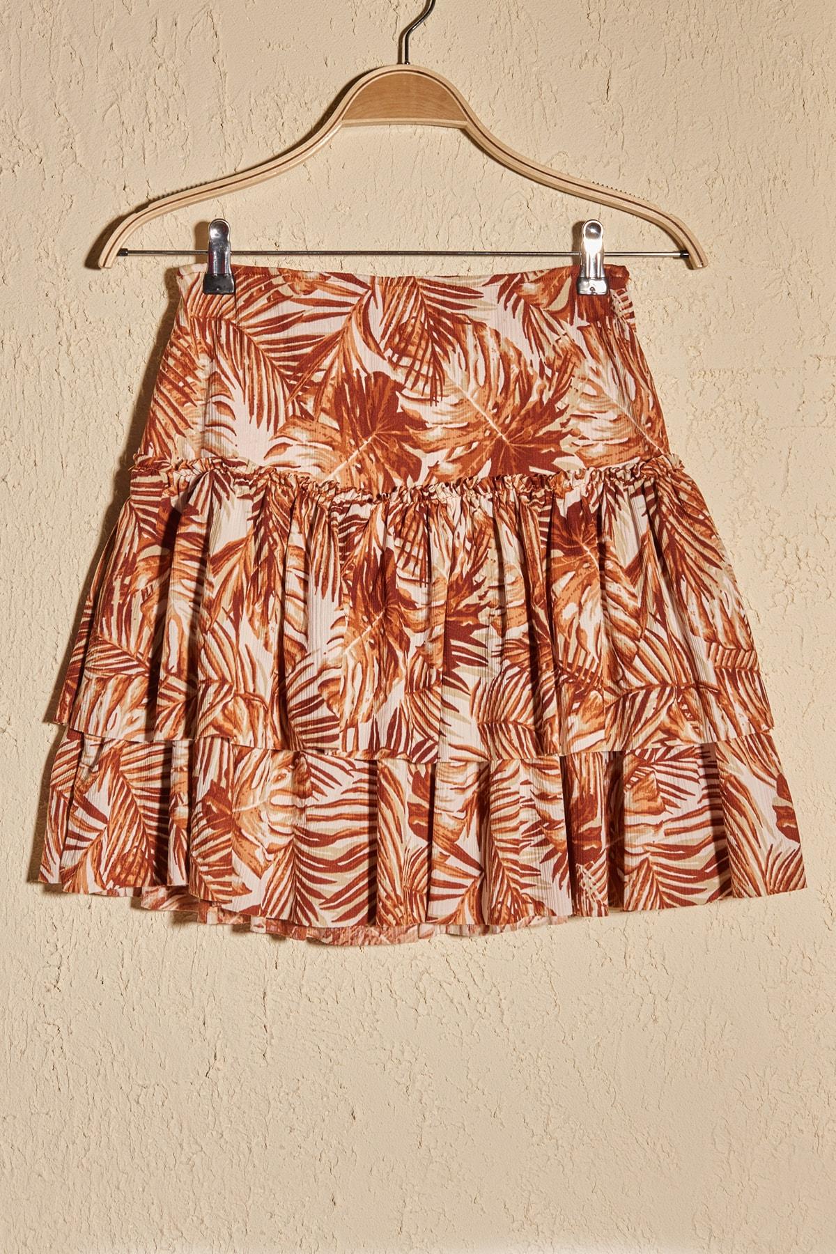 Trendyol Patterned Knitted Skirt TWOSS20ET0498