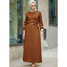 Knitwear Pleated Dress, 2020 Christian/Muslim Fashion, Long Ankle Dresses, Maxi Skirts, Hijab Clothes