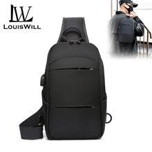 Поясные Сумки louiswill мужские сумки через плечо usb порт для