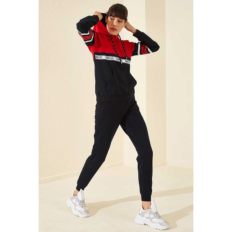 Pijamas para mulheres com capuz conjuntos de