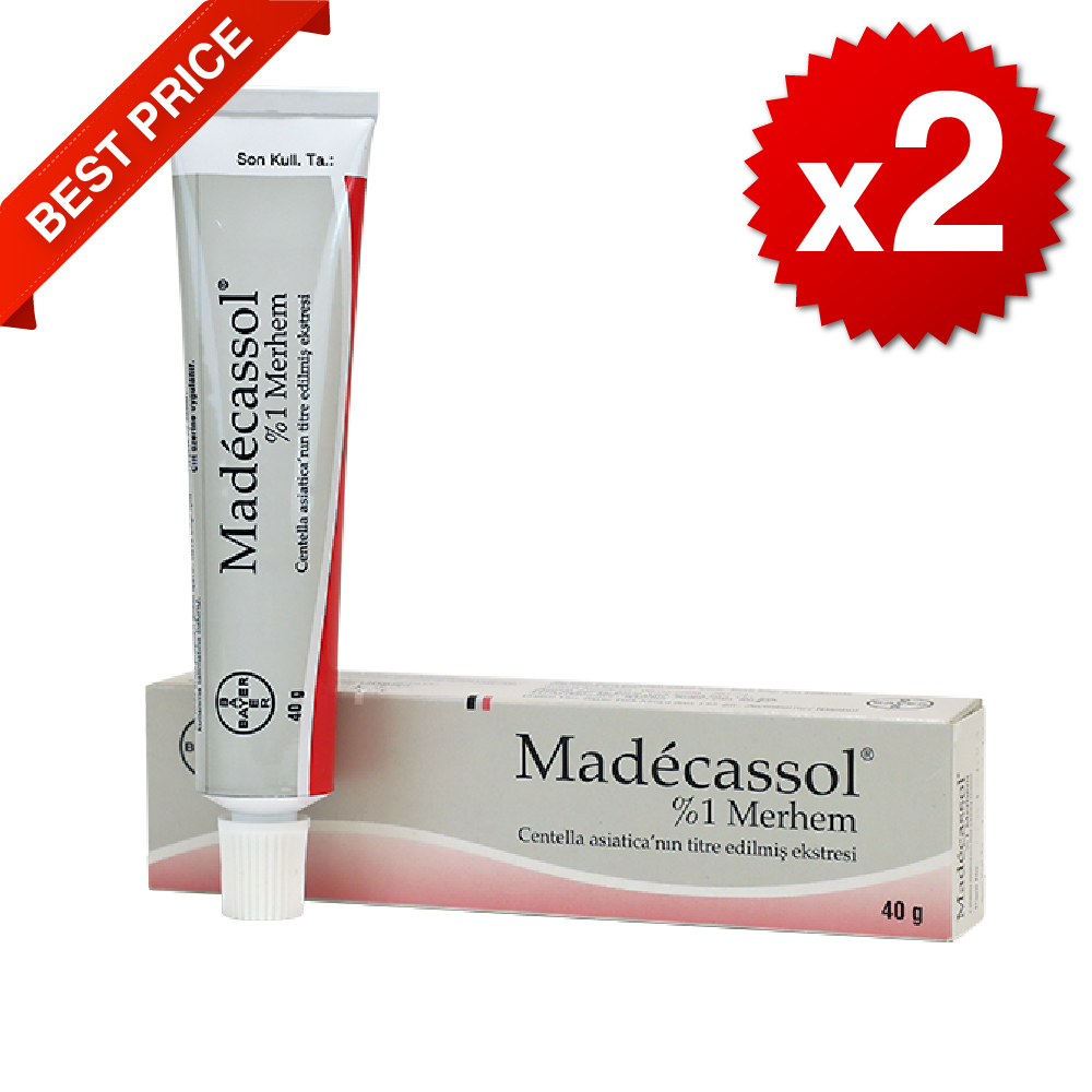 Madecassol 1% Cream Scar Injury Burns Acne Wrinkle - Centella Asiatica 40G-2 Packs