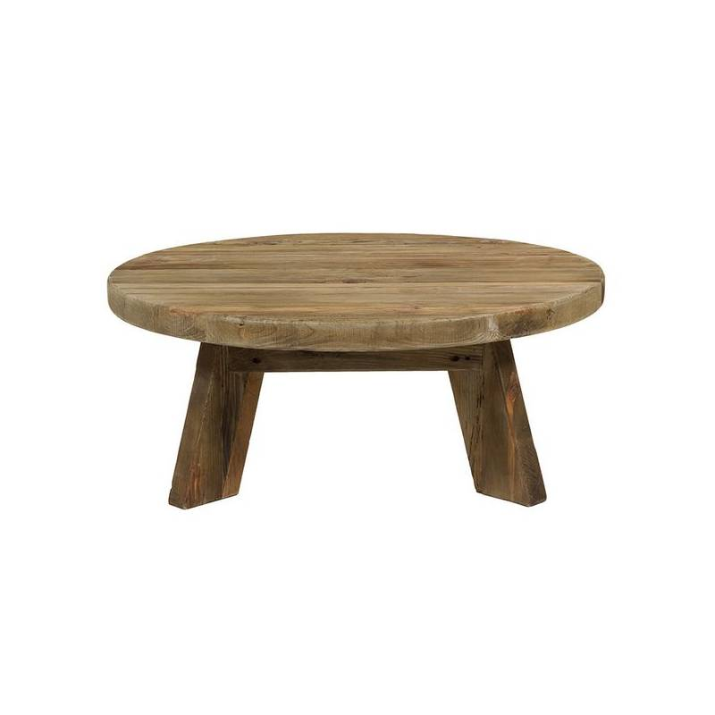 Coffee Table (90x90x35 Cm) Recycled Wood