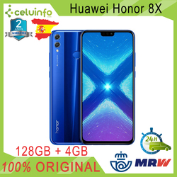 Huawei Honor 8X128G + 4G ram с идентификацией отпечатков пальцев 6,5 дюймполный экран синий отправлен 2 года гарантии официальный отправлен из Испании